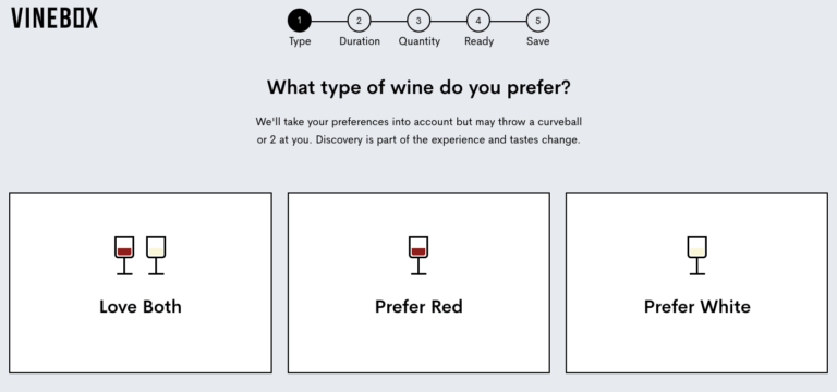 Vine box wine selection quiz